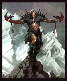 Dual Axe Barbarian
