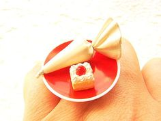 Kawaii Food Ring Icing Cake Miniature Food