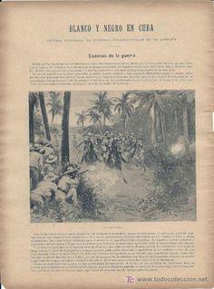 GUERRA DE CUBA -Escenas de la guerra, desde Sant-Spiritus, en la manigua-1896