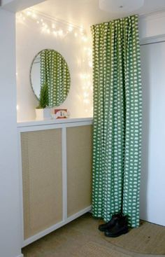 Creative Ways to Hide The Eyesores Around Your Home --> DIY radiator cover #tips #organization