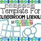 This is a FREEBIE to create your own classroom labels with the templates provided. This download allows you to add and resize each label. To add te...