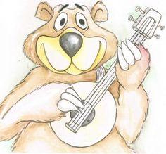 Bingo is a happy banjo picking bear now.