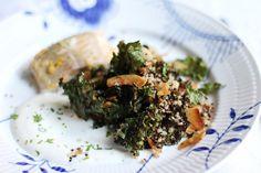 lilla matdériven: Quinoasallad med rostad grönkål och kokos samt asiatisk sej