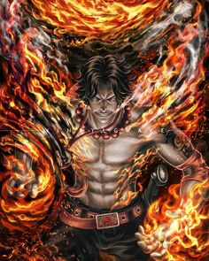 Portgas D. Ace, Firefist Ace Division Commander of Whitebeard pirates) Ace One Piece, Zoro One Piece, One Piece Fanart, One Piece Pictures, One Piece Images, Manga Anime, Anime Art, Doflamingo Wallpaper, Anime Zone