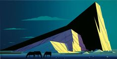 """""""Three Horses"""" by by Eyvind Earle (New York; 1916 – 2000). Silkscreen Print on Museum White, 1991.  Image Size, 19"""" x 38""""; Paper Size, 25-1/2"""" x 43-1/2"""".  Edition of 300.  Artist Proof of 25."""