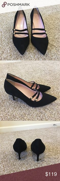 Kate Spade Suede Pumps size 7.5 Adorable Kate Spade Suede Pumps.  Heel approximately 1 inch.  Worn only a couple of times.  Great value for awesome shoe!  Excellent condition. kate spade Shoes Heels