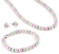 Honora Children%27s Multi-Color Freshwater Cultured Pearl Set