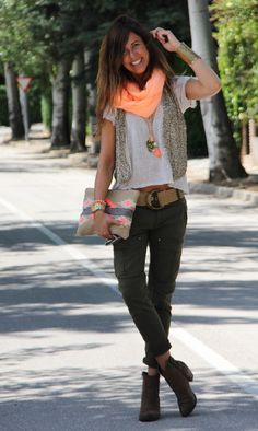 Orange! | mytenida en stylelovely.com