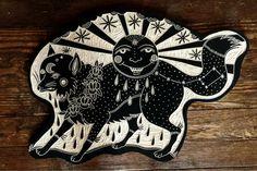 Magic fox for Thomas. 2012. Woodcut by Bryn Perrott