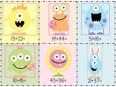 Studnets will add the two digit addition problems and then find the correct egg sum. Fun Math, Math Activities, Maths, Math Enrichment, Math Games, Fourth Grade Math, Second Grade Math, Grade 3, School Fun