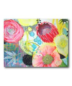 Look what I found on #zulily! Bright Flower II Gallery-Wrapped Canvas #zulilyfinds