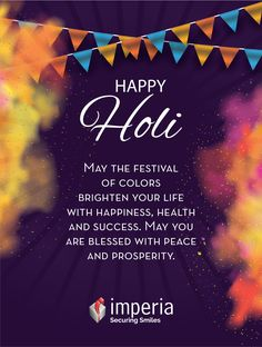 May the festival of colors  brighten your life with happiness health and success  May you are blessed with peace and prosperity #Happyholi #imperiastructuresltd