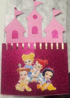 Baby Princess Castle Invitations Disney by InvitationsnCreation