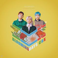 Hope you guys like it~ Please credit me if you are gonna use it CBX - The Mini Album : Blooming Days Cd Cover, Cover Art, Album Covers, Food Graphic Design, Graphic Design Posters, Pop Albums, Mini Albums, Exo Album, Kpop Posters