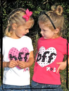 BEST FRIENDS FOREVER Set of 2 Baby Dots Onesies or by thenook, $45.00