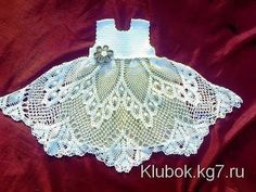 Crochet dress  How to crochet an easy shell stitch baby / girl's dress for beginners 45 - YouTube