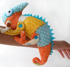 Chameleon in stile peluche cotone Toy regalo per il