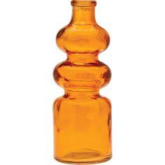 Orange Genevieve Glass Bottle Vintage Winery Bud Vases Medicine... (210 RUB) ❤ liked on Polyvore featuring home, home decor, vases, orange, filler, home & living, home décor, colored bottles, orange glass vase and orange vase