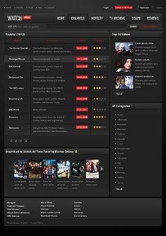Watch Online Website Templates by Mercury Movie Website, Blogger Templates, Website Template, Mercury, Watch, Movies, Clock, Films, Bracelet Watch