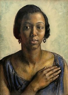 """Pearl Johnson by Laura Knight, 1927  """"Pearl Johnson, a long-serving John Hopkins nurse who soon became a friend. An energetic campaigner against segregation, Johnson took Knight to lectures and concerts to observe this early phase of the Civil Rights movement.""""  http://www.npg.org.uk/whatson/laura-knight-portraits/exhibition.php"""