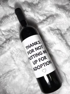 Thanks For Not Putting Me Up For Adoption, Father's Day Gift, Gift For Dad, Father's day decorations, Funny Father's Day gift, gift from kid,fathers day, gift for dad, funny fathers day, funny dad gift, funny fathers day decorations, funny fathers day card, funny fathers day decor, fathers day party decorations, funny father day wine, funny father day gift, funny gift for dad, gift to dad, funny wine label Made to order