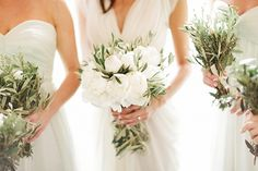 Provencal Herb and Peony Bouquets