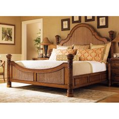 Tommy Bahama Home Island Estate Round Hill Panel Bed   Wayfair for a tropical style bedroom
