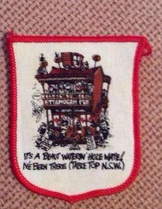 Ettamigah Pub Table top NSW Cloth Woven Badge