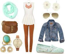 Fall Fashion Inspiration {Mint & Orange}