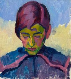 """amare-habeo: """" Giovanni Giacometti (Swiss, Portrait of a young girl, 1910 Oil on x cm """" Alberto Giacometti, Giovanni Giacometti, Post Impressionism, Impressionist, Van Gogh, Famous Artists Paintings, Oil Paintings, Expressionist Artists, Italian Painters"""