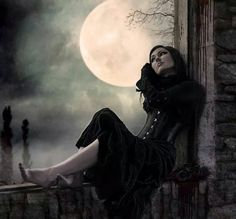 The Memory Remains by SV-Blackart on DeviantArt Dark Beauty, Beauty Art, Gothic Beauty, Goth Subculture, Dark Tree, Pagan Art, Victorian Goth, Good Night Moon, Goth Art