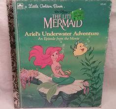 Walt Disney's Little Mermaid Ariel's Underwater Adventure Little Golden Book