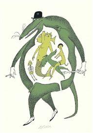 Artwork by Adolf Born, Menu a la carte. Cartoon Knight, Scary Monsters, Hans Christian, Typography Prints, Animation Film, Cool Drawings, Fairy Tales, Moose Art, Illustration Art