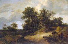 ヤーコプ・ファン・ロイスダール Jacob van Ruisdael : Landscape with a House in the Grove : Hermitage Museum