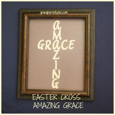 Easter Cross Amazing Grace Easter Cross Amazing Grace shared on DIY Showcase on Spring Crafts, Holiday Crafts, Easter Egg Crafts, Cross Crafts, Easter Cross, Easter Celebration, Bible Crafts, Easter Holidays, Crafty Craft