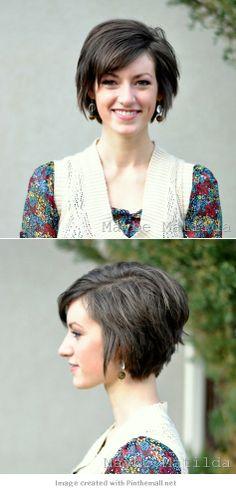 Cute Hair when growing out a Pixie haircut
