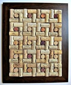 I knew I was saving those corks for something... Wine Cork Board - cool design:
