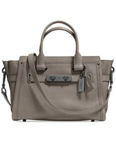 COACH SWAGGER  27 IN PEBBLE LEATHER | macys.com