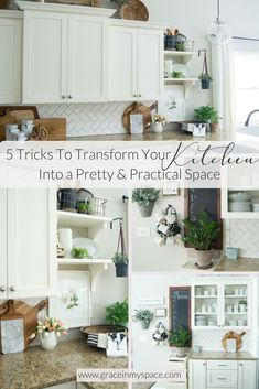 Spring Kitchen Decor|5 Tricks to Transform Your Kitchen Into a Pretty and Practical Space | www.GraceInMySpace.com