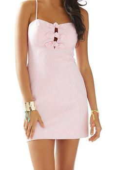 Lilly Pulitzer Petra Seersucker Dress in Pink Seersucker Stripe - Fabulous Style