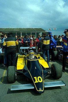 """Michele Alboreto - Minardi Fly 281 BMW/Mader - Minardi Team - XXV B.A.R.C. """"200"""" 1981 - X Jochen Rindt Trophy - European Championship for F2 Drivers, Round 3 - © Sutton Motorsport Images"""