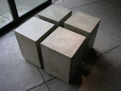 Concrete Table $225 @Tiffany Ables #furniture #pedestal #contemporary