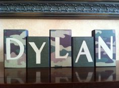 Items similar to Personalized Wood Name Block - Camouflage Blocks - Bedroom Decor for Young Boys on Etsy Boys Army Bedroom, Military Bedroom, Army Room, Kids Bedroom, Bedroom Decor, Bedroom Ideas, Wall Decor, Camo Rooms, Camouflage Bedroom