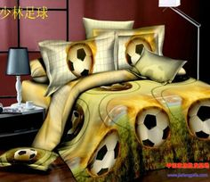 Cheap bedding bed, Buy Quality bed in a bag directly from China bed in bag Suppliers: Football duvet cover set Bedding bed in a bag sheet bedspread quilt covers linen full double queen size housse de couette