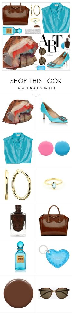 """Manolo Blahnik: The Art Of Shoes"" by teryblueberry ❤ liked on Polyvore featuring Vivienne Westwood, Manolo Blahnik, Isa Arfen, Deborah Lippmann, Givenchy, Tom Ford, Aspinal of London, Lauren B. Beauty and Yves Saint Laurent"