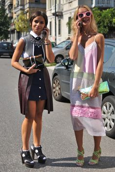 Milan Fashion Week #StreetStyle #Fashion #MFW #MilanFashionWeek #Tech