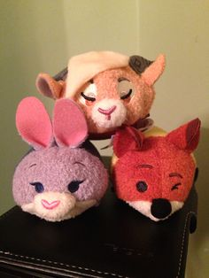 Gazelle, Judy Hopps, and Nick Wilde Tsum Tsums!!
