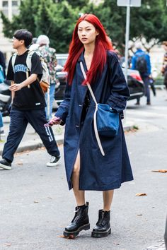 Mode Outfits, Fashion Outfits, Fashion Tips, Fashion Ideas, Red Hair Inspo, Dying My Hair, Street Style, Aesthetic Hair, Grunge Hair