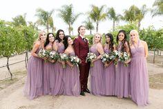 Temecula Wine Country Wedding @ Villa De Amore- wedding photos groom and bridesmaids