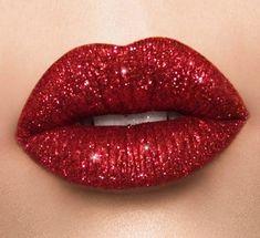 A personal favorite from my Etsy shop https://www.etsy.com/listing/575136248/red-glitter-lipset-liquid-lips #GlitterLipstick